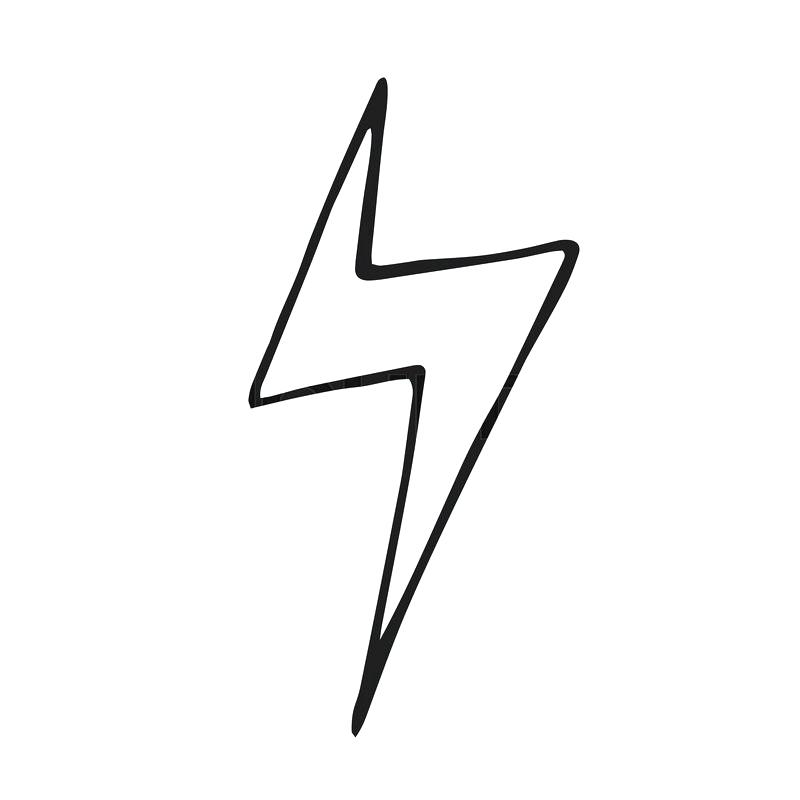 800x800 How To Draw A Lightning Bolt Step