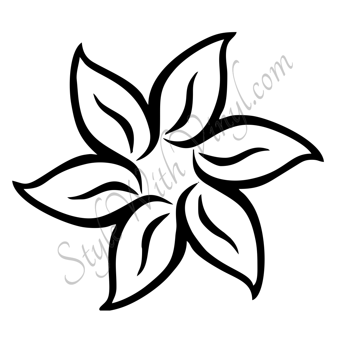 1200x1200 Free Black White Flower Drawing And Tumblr Tattoo Lily Botanical