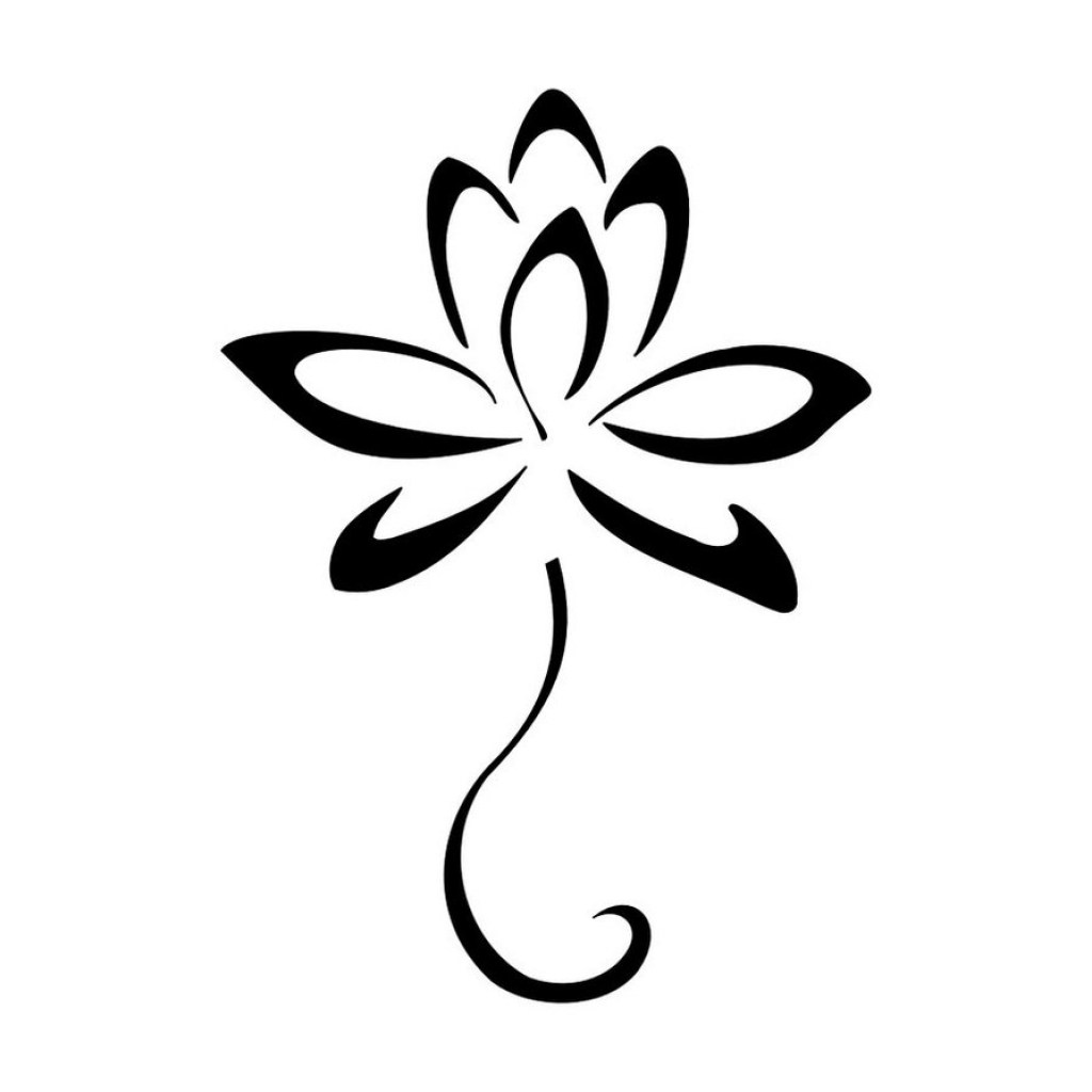 1024x1024 Lily Flower Drawing Easy Step