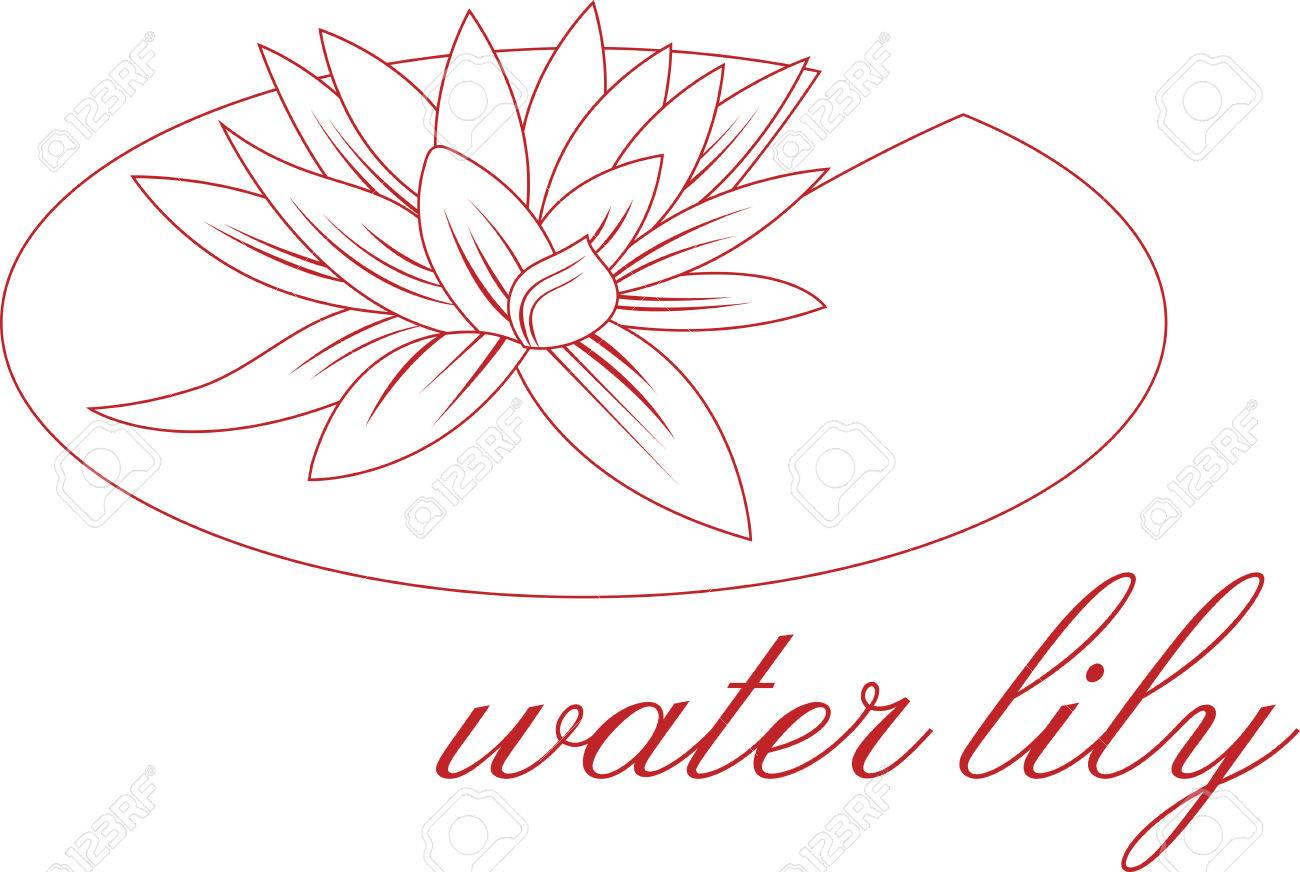 1300x872 Lily Pad Clipart Flower Drawing