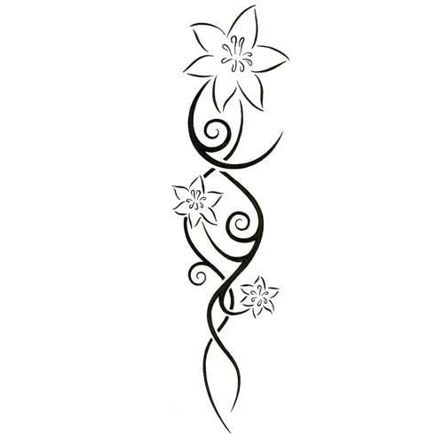 500x500 Lily Black Outline Tattoos Ideas And Designs