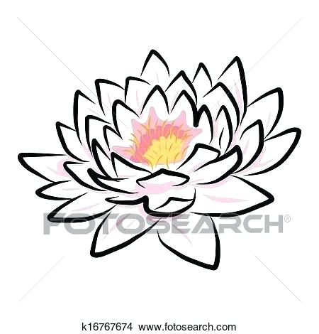 450x470 Lotus Flower Drawing Lotus Flower Drawing