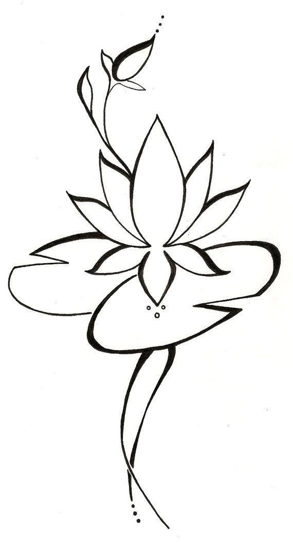 570x1062 Lotus Lilypad Original Tattoo Design Tattoo Art Tattoo Designs
