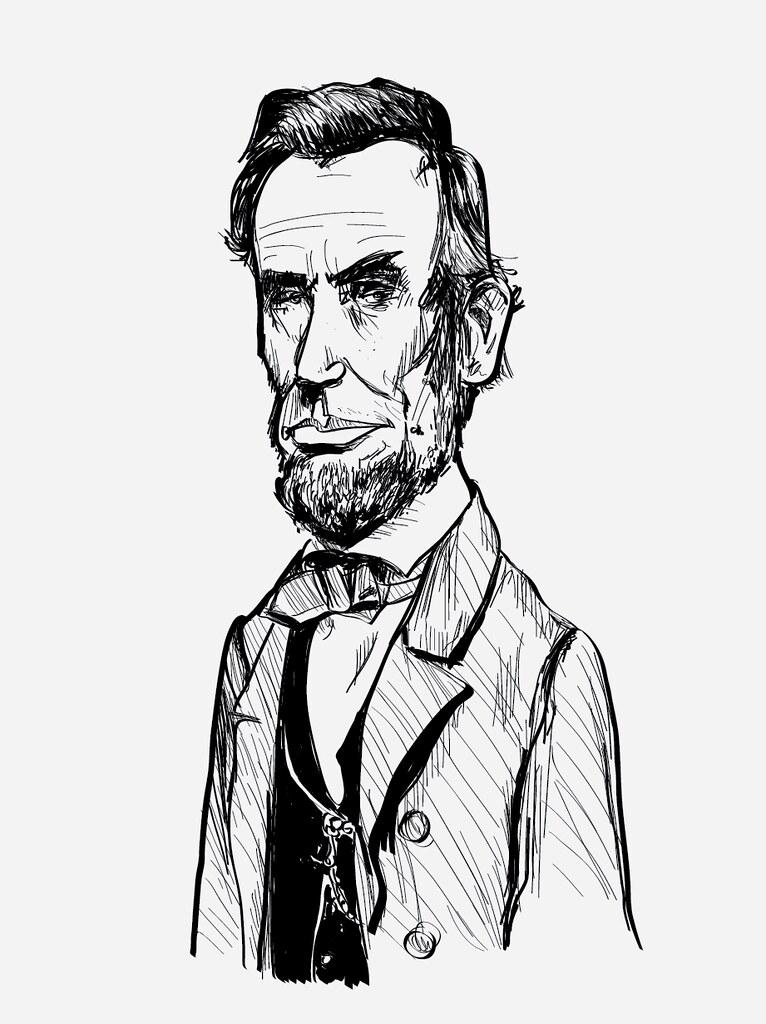 766x1024 Abraham Lincoln Drawing Drawing Using My New Wacom Tablet