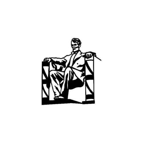 500x500 Lincoln Memorial Vinyl Sticker