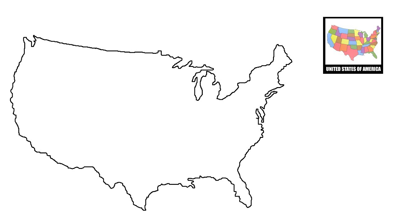 1280x720 How To Draw Map Of Usa United States Map