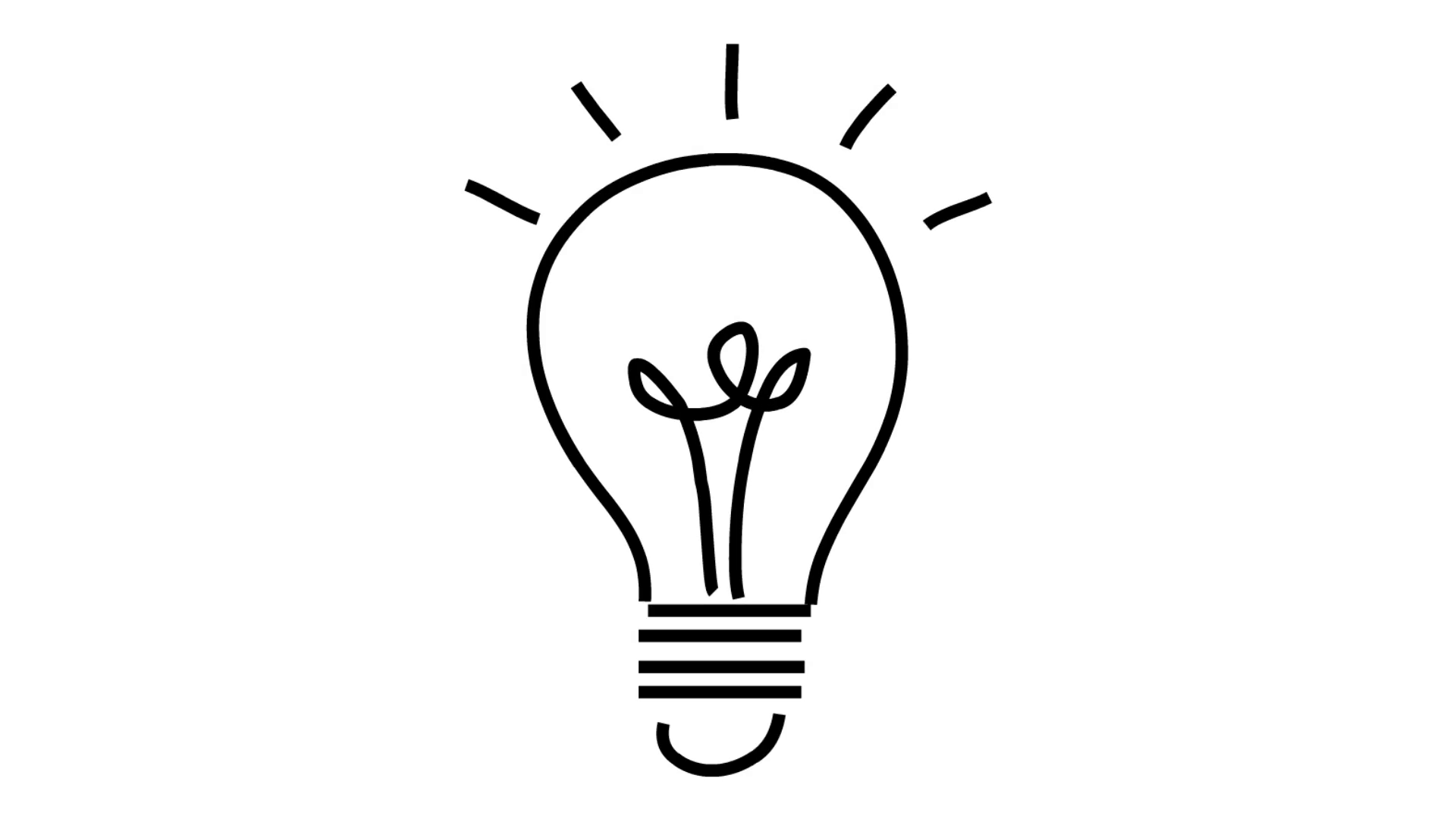 1920x1080 Thought Bulb Idea Line Drawing Illustration Animation