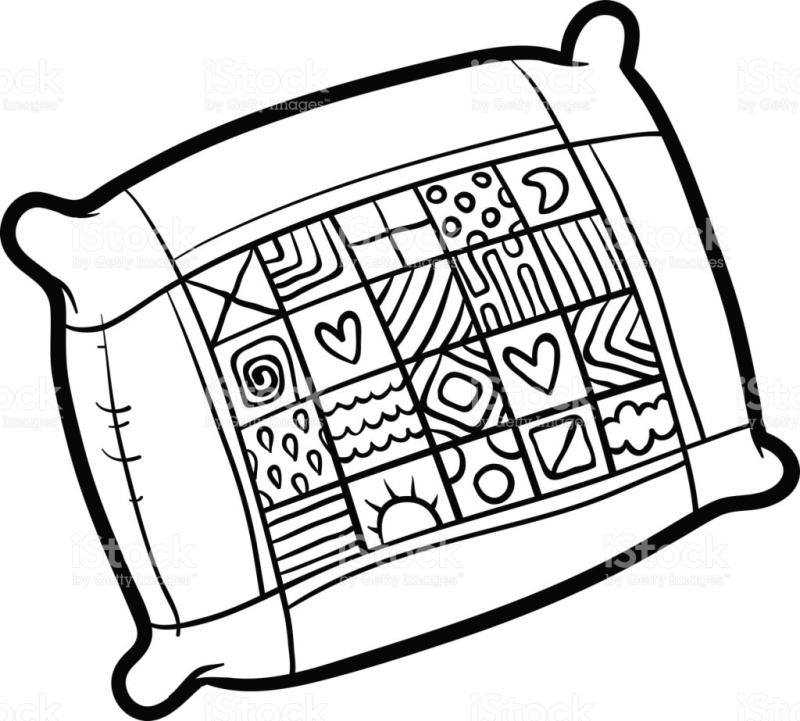800x721 pillow clipart black and white pillow clipart black and white