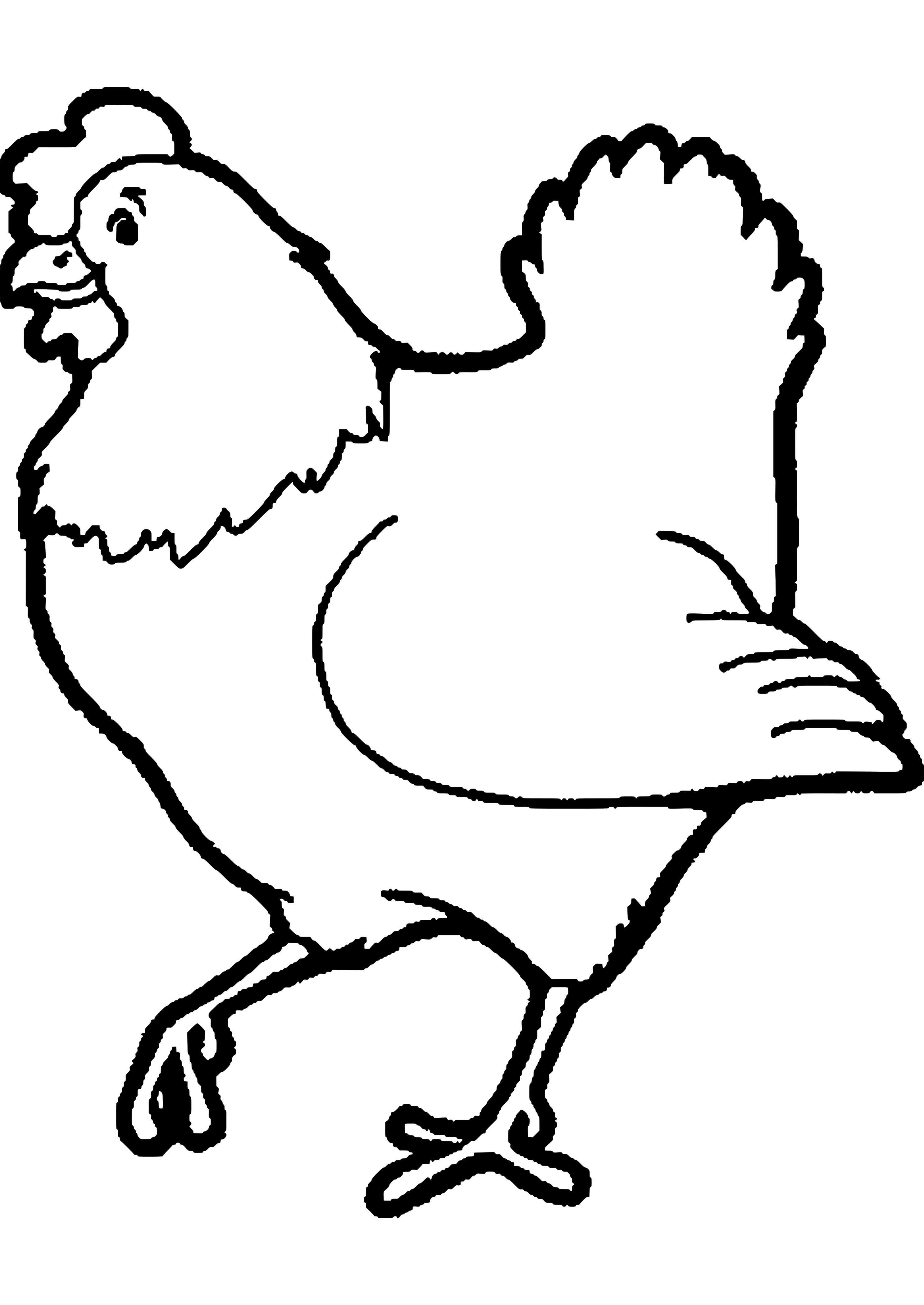 2975x4200 Chicken Coloring Book Awesome Image Rooster Coloring