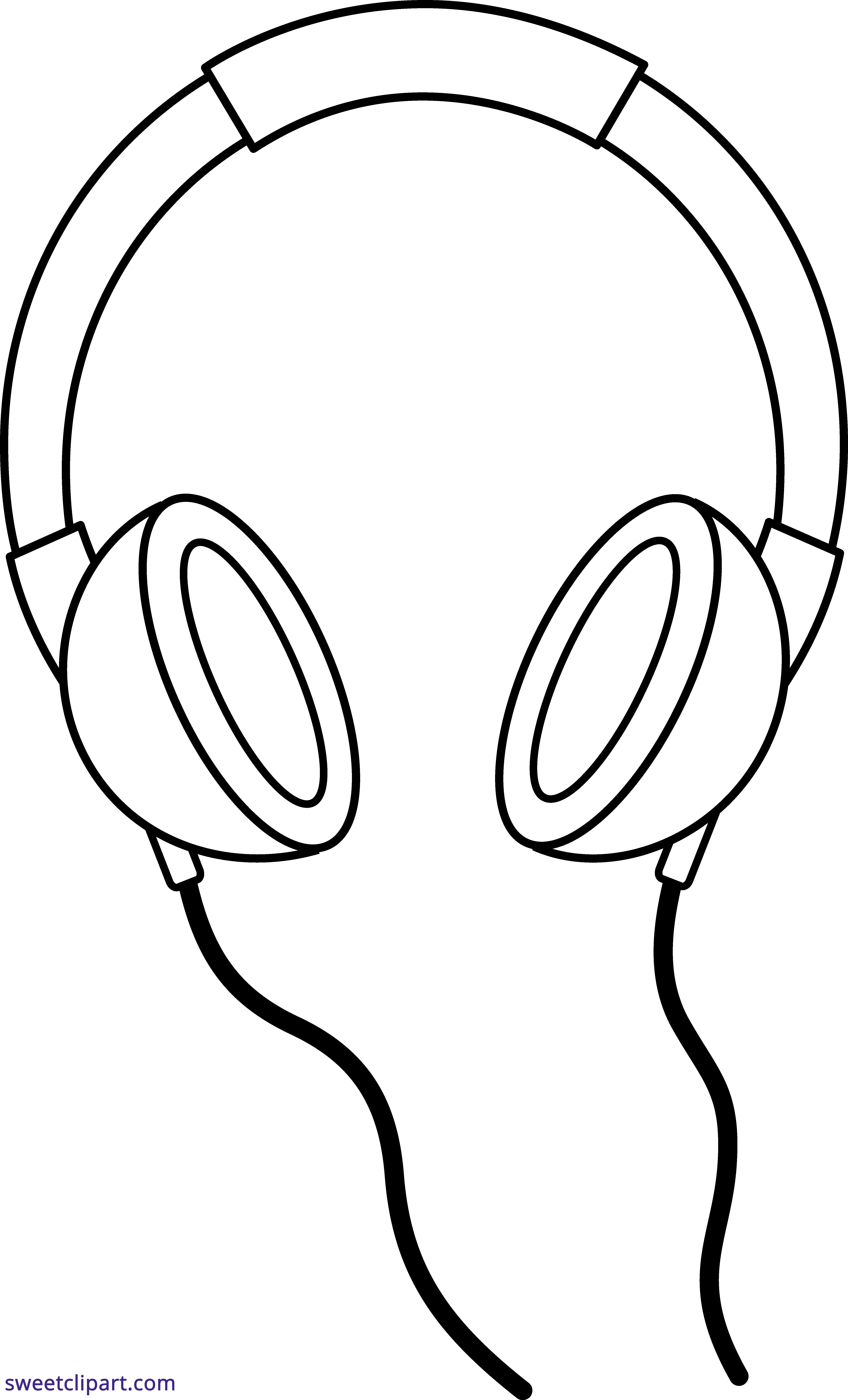 5159x8522 Collection Of Free Headphone Clipart Line Art Amusement Clipart