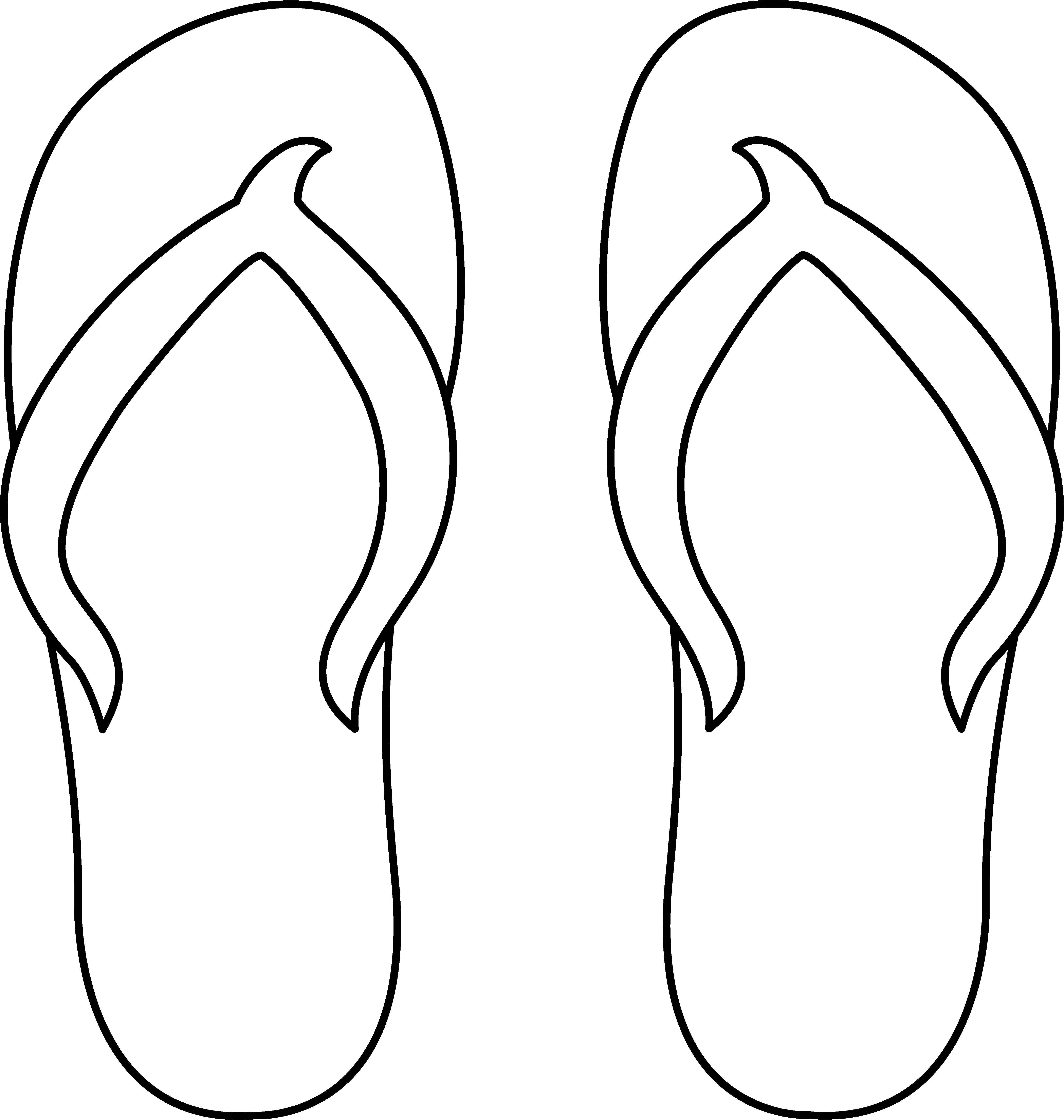 5262x5539 Flip Flops Line Art