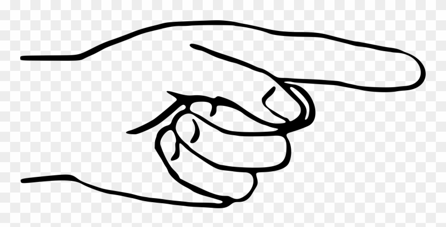 880x448 Line Art Drawing The Finger Silhouette Middle Finger