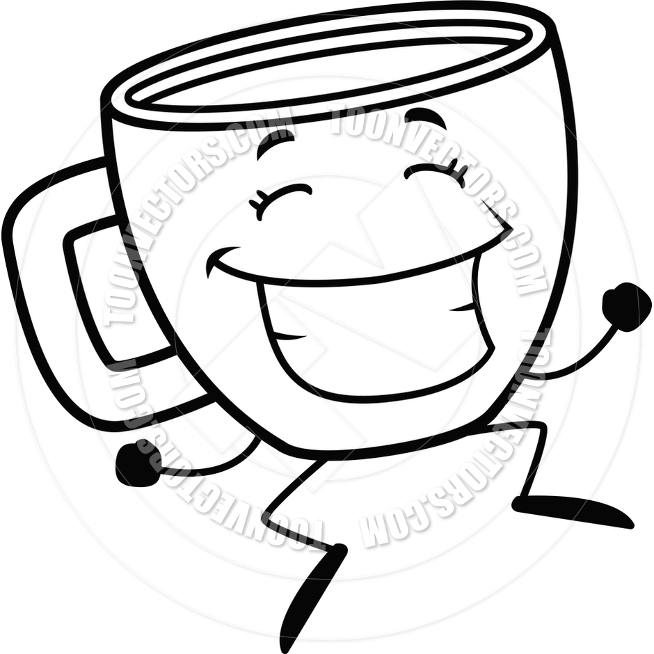 940x940 Coffee Cup Line Drawing Clip Art Black White
