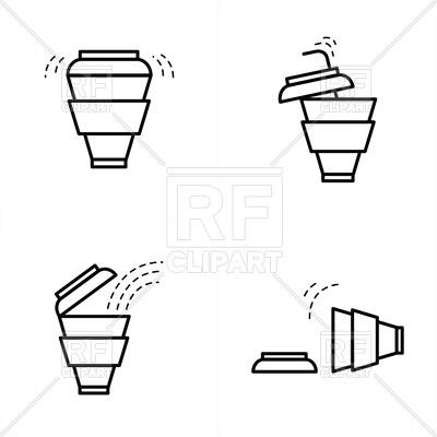 400x400 Coffee Cup Line Style Vector Image Of Icons And Emblems Iconmama