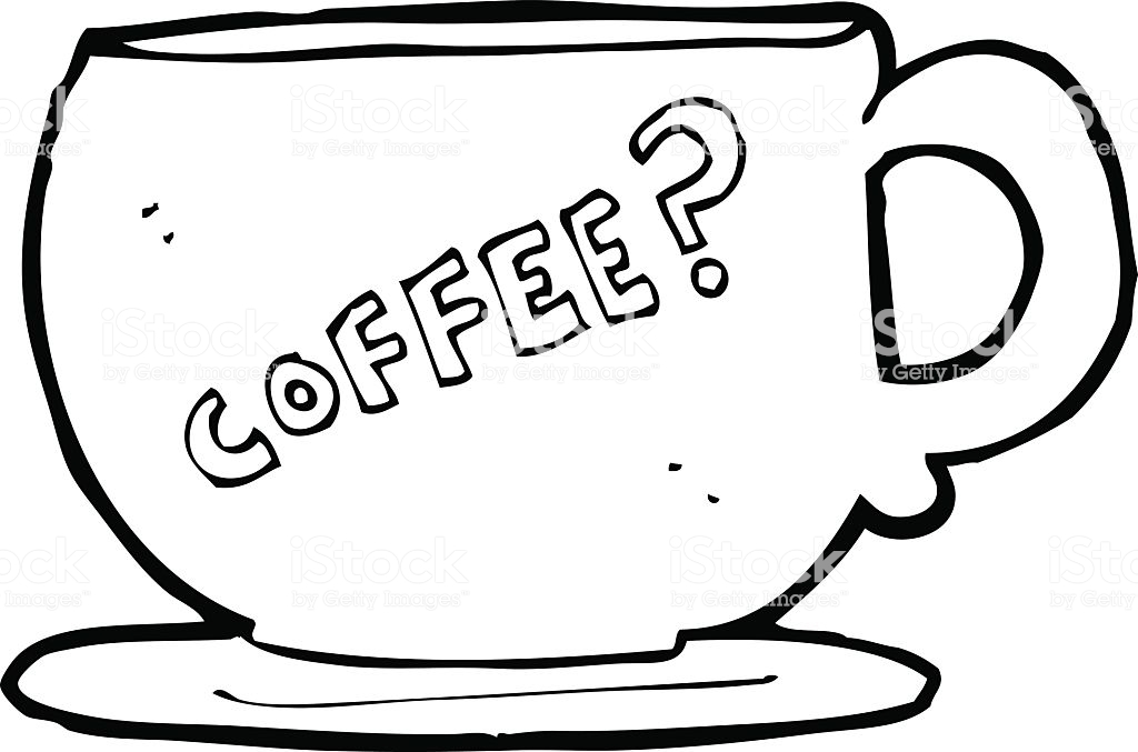 1024x677 Collection Of 'line Drawing Coffee Cup' Download More Than