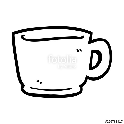 500x500 Line Drawing Cartoon Tea Cup Stock Image And Royalty Free Vector