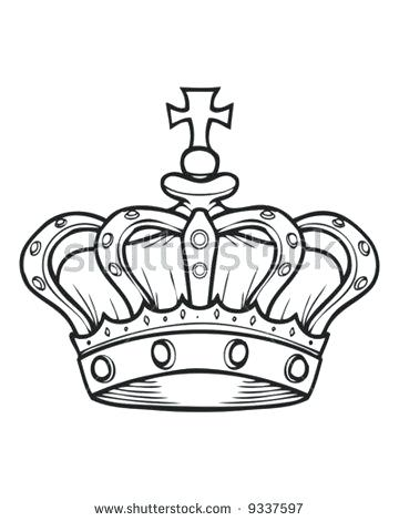 360x470 Crown Outline Clip Art D Simple Tattoo Designs Drawing