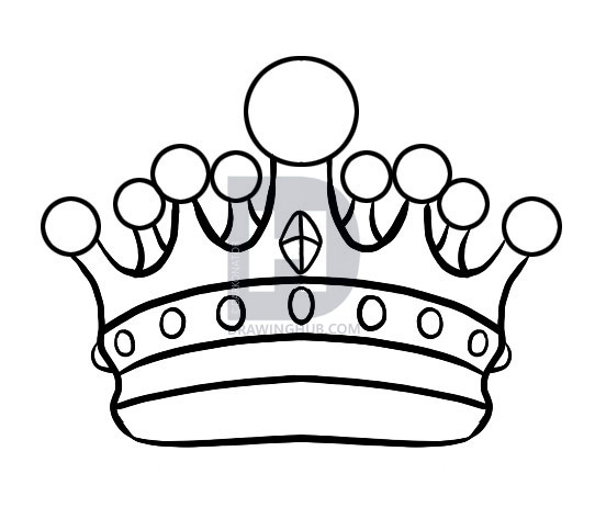 542x483 How To Draw A Crown, Step