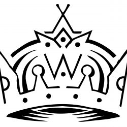 250x250 Simple Crown Line Drawing Anime Images Advent Black Life