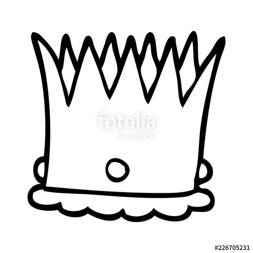 500x500 Line Drawing Cartoon Silver Crown Stock Image And Royalty Free