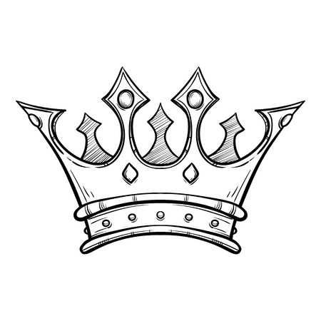 450x450 Simple King Crown Drawing