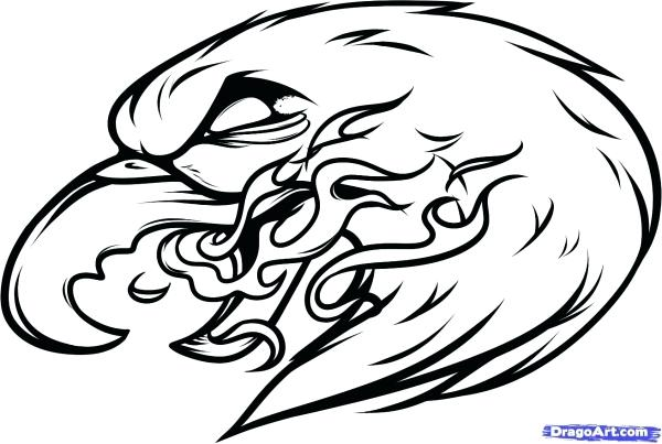 600x403 Easy Eagle Drawing Eagle Easy Harpy Eagle Drawing