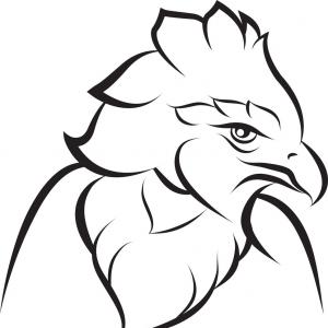 300x300 Line Art Of Crown Eagle Vector Soidergi