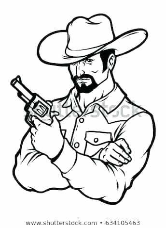 344x470 cowboy line drawing cartoon cowboy clip art cowboy drawing line