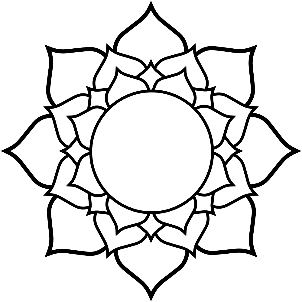 999x999 Lotus Flower Graphic Transparent Download Black And White Huge