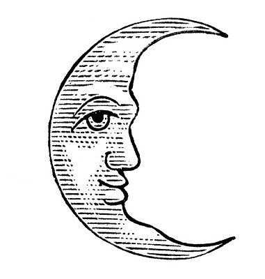 Line Drawing Moon