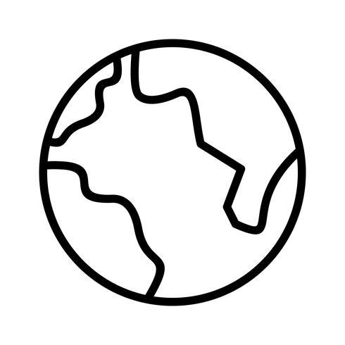 490x490 Earth Line Black Icon