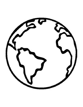 270x350 Earth Template For Art Project Earth Coloring