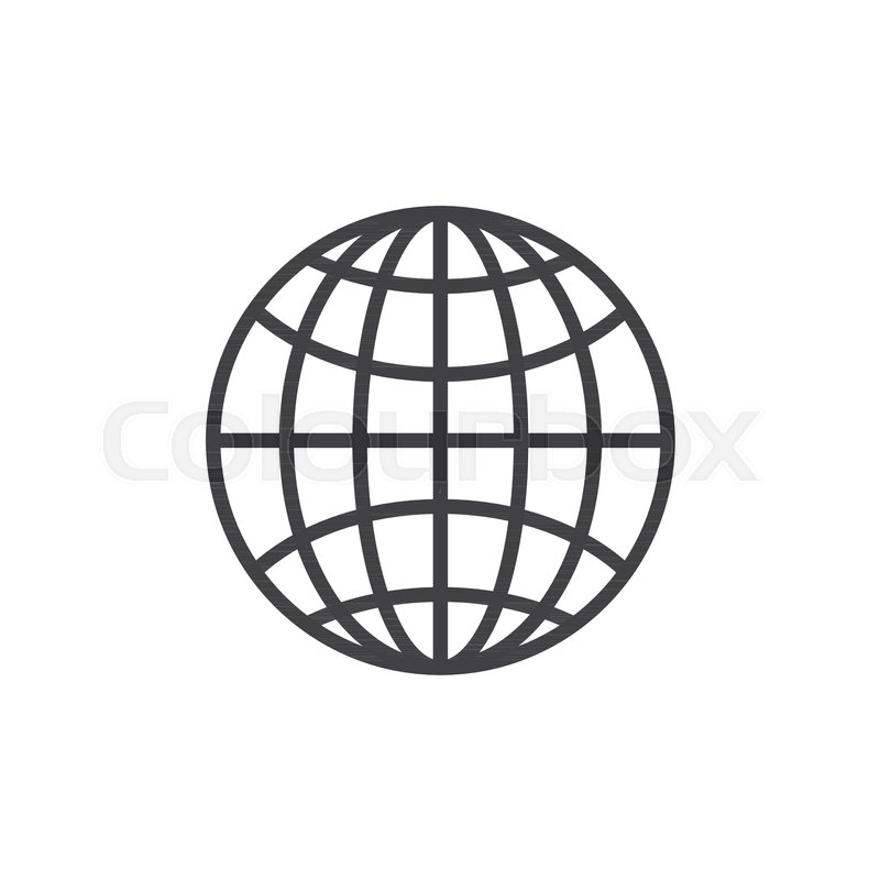 800x800 Earth Grid Outline Icon Linear Style Stock Vector Colourbox