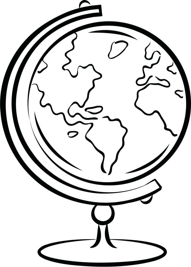 650x910 Drawn Earth Line Free Clip Art Stock Illustrations