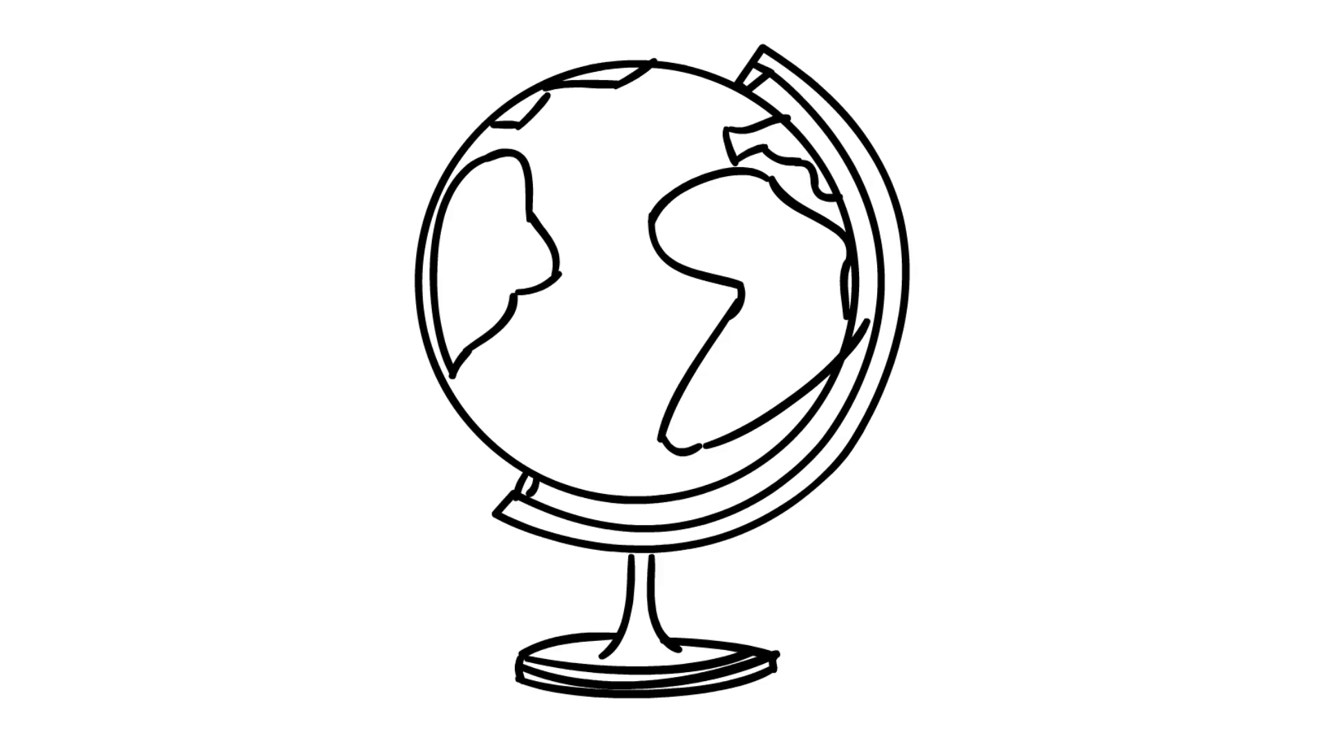 1920x1080 Huge Collection Of 'line Drawing Of Globe' Download More Than