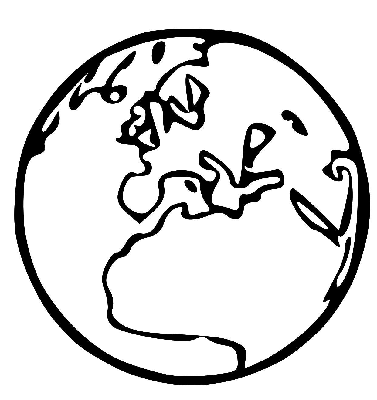 1242x1318 Earth Lineart Outline For Free Download