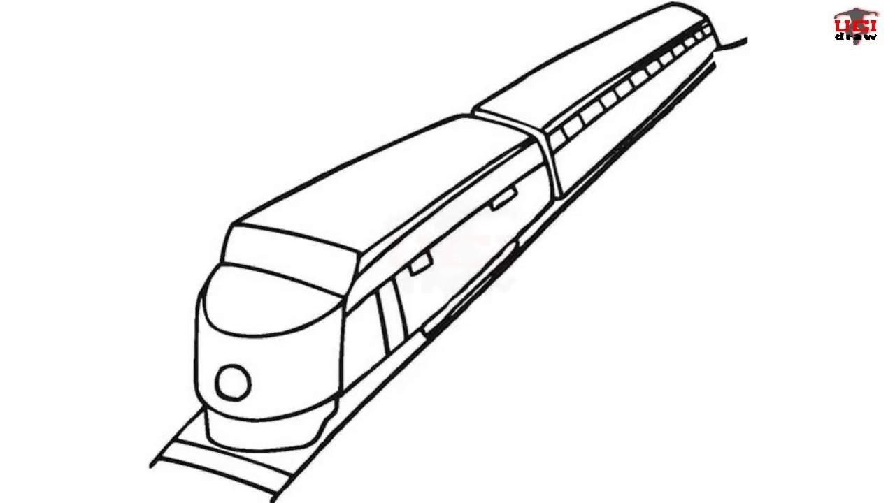 1280x720 How To Draw A Train Easy Step