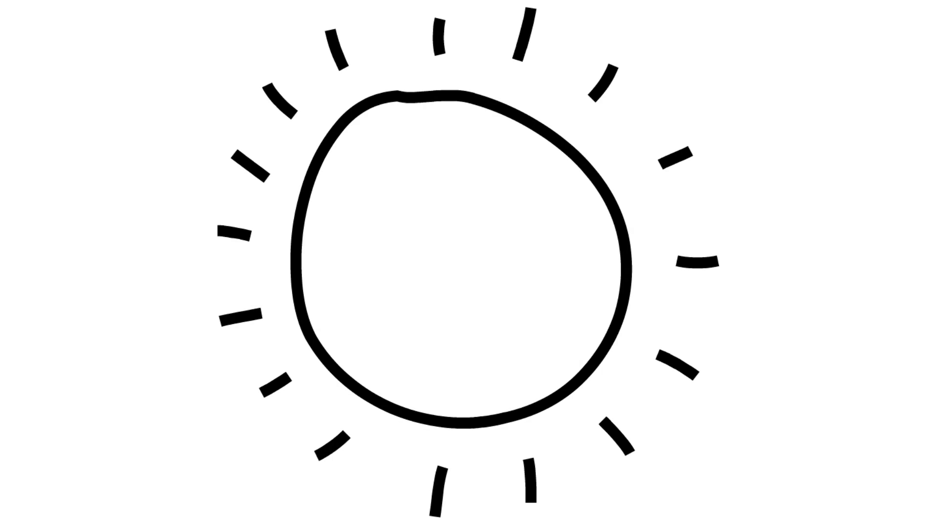 1920x1080 Sun Line Drawing Illustration Animation With Transparent
