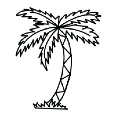 450x450 Palm Tree Line Drawing Palm Simple Palm Tree Line Drawing