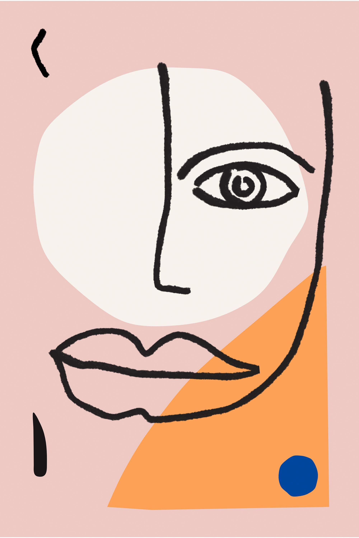 2000x3000 Matisse Inspired Art Print Line Drawing Modern Poster Minimalist