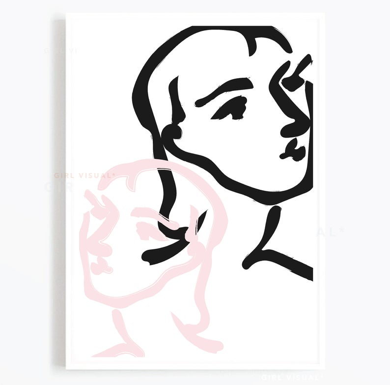 794x783 Matisse Print Matisse Inspired Poster Art Prints Pink Etsy