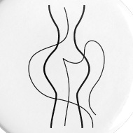 190x190 Abstract Woman Body Line Drawing Small Buttons Spreadshirt