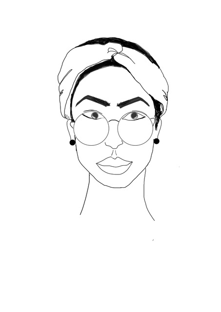 453x640 woman with glasses line drawing line drawing poster line drawing