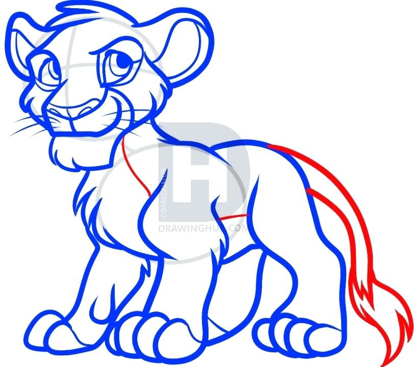 812x720 How To Draw Lion King Simba Drawing