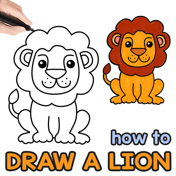 680x680 How To Draw A Lion Step
