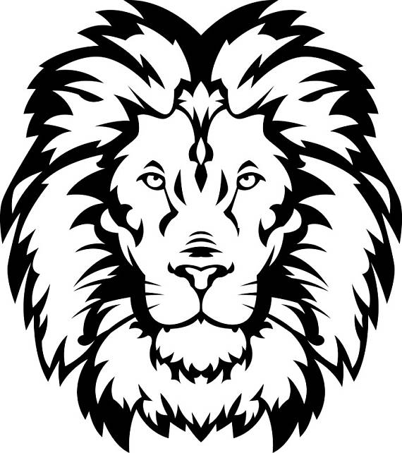 570x642 Lion Drawing Logo For Free Download
