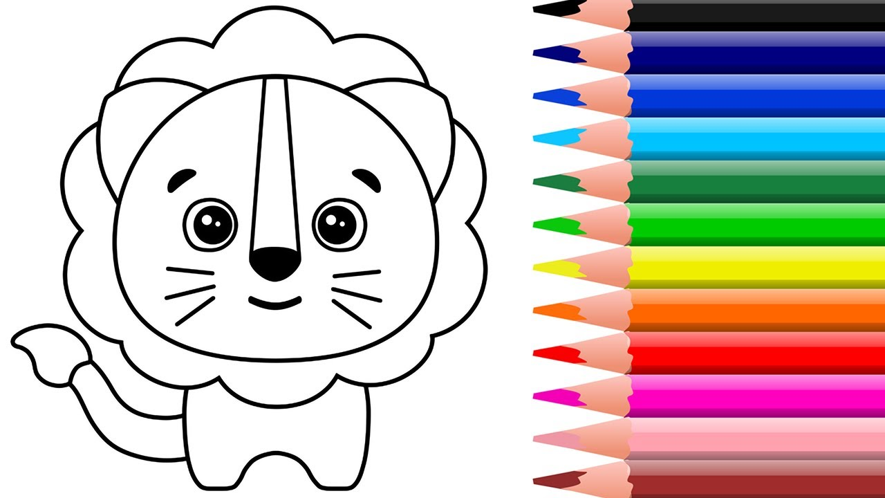 1280x720 How To Draw Lioncoloring Pagedrawing For Kidscolor Splash