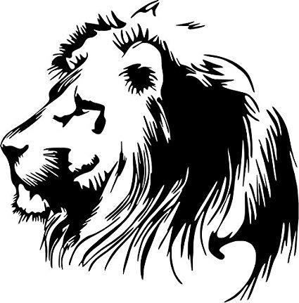 425x431 Lion Wildlife Vinyl Decal Sticker Car Window Bumper