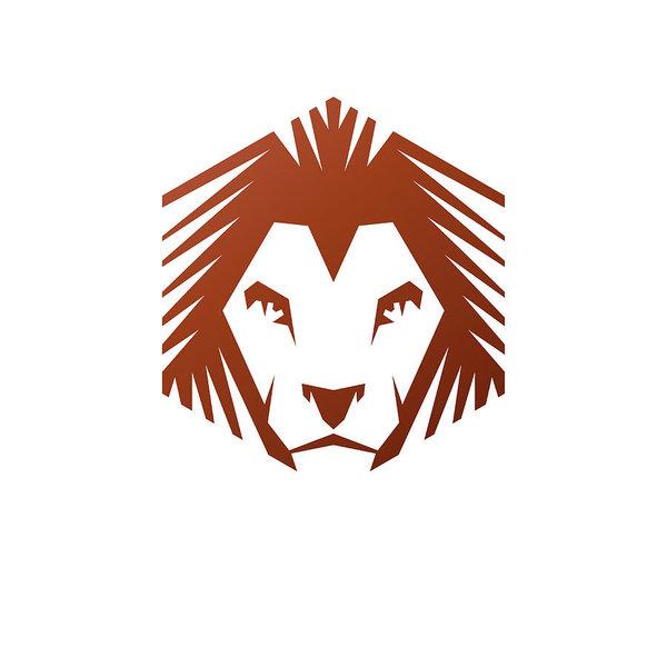 600x600 Brave Lion Face Emblem Animal Element Heraldic Coat Of Arms