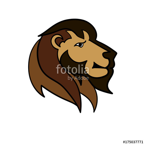 500x500 Head Lion Color Mascot Stock Image And Royalty Free Vector